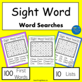 High Frequency Words (Sight Words) Word Searches Set #1
