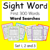 High Frequency Words (Sight Words) Word Searches Set 1-3 -