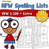 High Frequency Words Spelling Lists