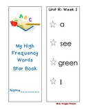Reading Street Grade 1- High Frequency Words Star Book