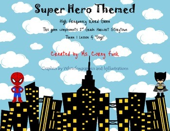 High Frequency Words Super Hero Review Game Storytown 2nd grade