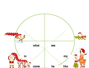 High Frequency Words Tally/Graphing~Christmas