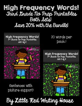 High Frequency Words {The 3rd Grade BUNDLE!}