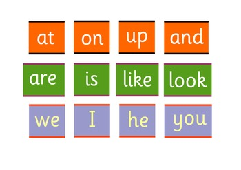 High Frequency  Words :The first 45 words suitable  to create simple sentences .