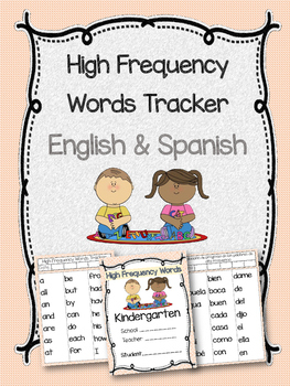High Frequency Words Tracker- English & Spanish