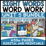WORD WORK BUNDLE | UNIT 5