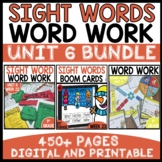 WORD WORK BUNDLE | UNIT 6