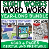 WORD WORK BUNDLE (UNITS 1 - 8) THE ENTIRE YEAR!