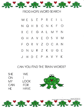 High Frequency Words - Word Search