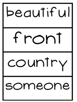 High Frequency Words- Word Wall Cards  Reading Street Unit 1