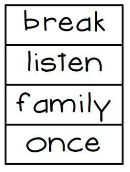 High Frequency Words- Word Wall Cards  Reading Street Unit 2