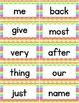 High Frequency Words - 400 Word Wall Words - Rainbow Chevron