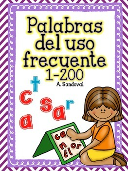 High Frequency Words Word Work Mats for Tiles/Magnetic Letters 1-200 in Spanish
