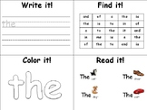 High Frequency Words activities