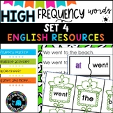 High Frequency Words and initial sounds.  Star Words Level 4