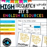 High Frequency Words and initial sounds.  Star Words Level 5
