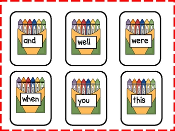 High Frequency Words for Early Childhood