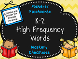 High Frequency Words for Kindergarten-Second Grade with Ma