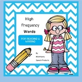 High Frequency Words for Reading and Writing {Printables}