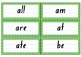 High Frequency Words for Word Wall
