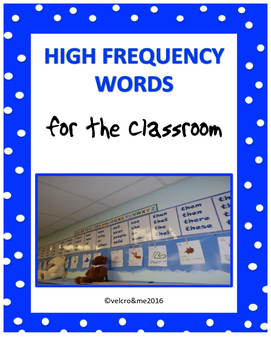 High Frequency Words for the Wall