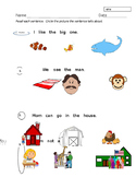High Frequency Words in Context/Comprehension #2 ----- K Assessment----EDITABLE