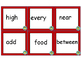 High Frequency Words in Spanish & English - Third Grade (Set A)