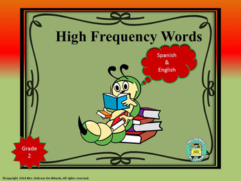 High Frequency Words in Spanish & English - Second Grade (Set C)
