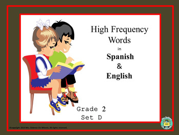 High Frequency Words in Spanish & English - Second Grade (Set D)