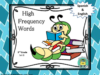 High Frequency Words in Spanish & English - Third Grade (Set B)