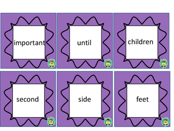 High Frequency Words in Spanish & English - Third Grade (Set C)