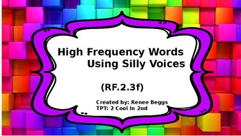 High Frequency Words - the FUN way!