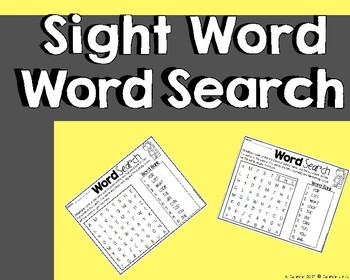 High Frequency Words ~ word search
