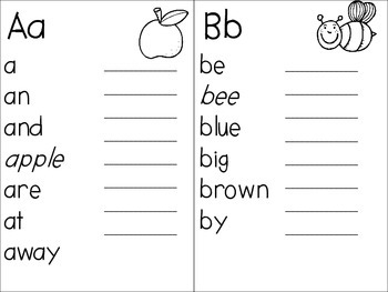 High Frequency Writing Words Dictionary