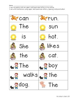 Kindergarten High Frequency Sight Word Literacy Stations!