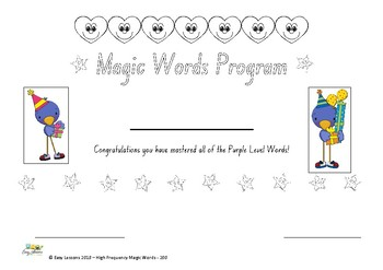 High Frequency magic words - 200 level Certificates al