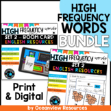 High Frequency words and Phonics bundle Set 2 - Boom cards and worksheets