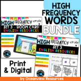 High Frequency words and Phonics bundle Set 3- Boom cards and worksheets BUNDLE