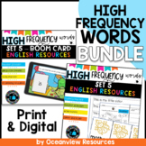 High Frequency words and initial sounds LEVEL 5 Star Words BUNDLE