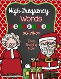 High Frequency/Sight Word Activities:Christmas {20}