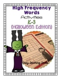 High Frequency/Sight Word Activities:Halloween {20}