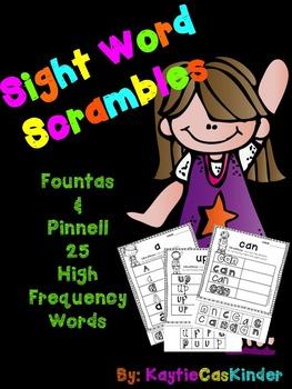 Sight Word Scrambles!