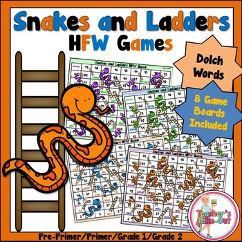 Snakes and Ladders HFW Games (Dolch)