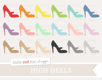 High Heel Clipart; Shoes, Stiletto, Pumps