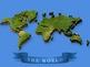 High-Impact visual 3D world map