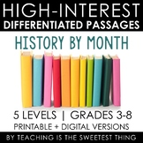 High-Interest History Differentiated Passages for the Year Bundle