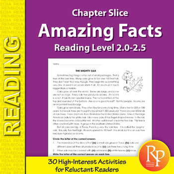 High-Interest / Low Readability: Amazing Facts (Reading Level 2.0-2.5)