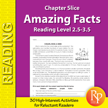 High-Interest / Low Readability: Amazing Facts (Reading Level 2.5-3.5)