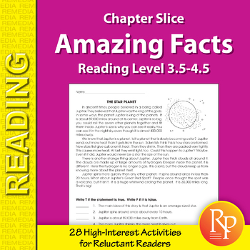 High-Interest / Low Readability: Amazing Facts (Reading Level 3.5-4.5)