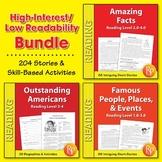 High-Interest / Low Readability {Bundle}